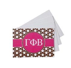 Gamma Phi Beta Ring Folded Notecards sassysorority.com
