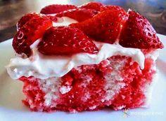 STRAWBERRY POKE CAKE ~ Recipe of today