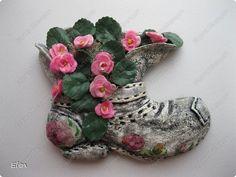Картина панно рисунок Лепка Повторюшные ботинки Тесто соленое фото 1