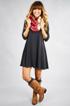 Share to save 10% on  your order instantly!  The Good One Dress: Dusty Navy