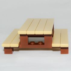 LEGO Furniture: Picnic Table Set w/ Instructions & Parts [minifig,yard,house] Lego Duplo, Lego Display, Lego Design, Lego Friends, Village Lego, Pokemon Lego, Instructions Lego, Micro Lego, Lego Furniture