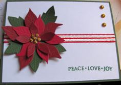 Used the new Poppy stamps poinsettia die cut and a Hero Arts sentiment.