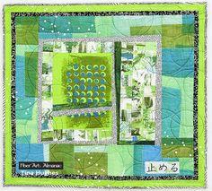Mono-printing on fabric: Tina Hughes' quilt style