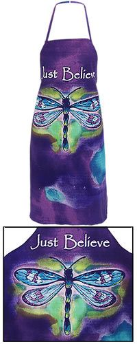 Just Believe Dragonfly Apron~ Every Purchase Funds Research and Therapy to Help Children with Autism.