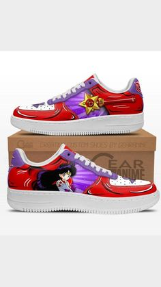 Air Force Shoes, Sailor Mars, Painted Shoes, Cool Items, Casual Shoes, Fashion Shoes, Anime, Sneakers, Clothing