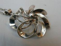 Modernist DENMARK Silver Pendant N.E. FROM Scandinavian