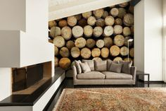 Firewood, Indoor, Couch, Texture, Wall Art, Photo Walls, Ideas, Crafts, Furniture