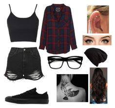 """""""Untitled #42"""" by angelice234 on Polyvore featuring Topshop, Rails, Converse, Free People and Retrò"""