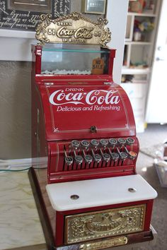 Gorgeous Heavy Coca Cola Coke Cash Register by OldBeaverAntiques on Etsy
