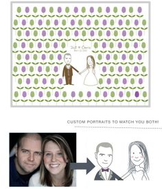 Quirky takes on thumbprint guestbooks