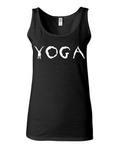 Yoga Tank 100% cotton Junior fit to be form fitting Runs small Shown on size S model
