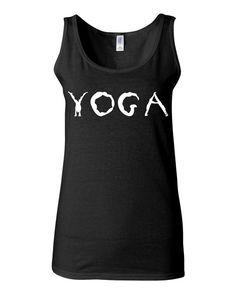 Funny Yoga Tank - Yoga - Yogi Workout Tank - Yoga T Shirt - Yoga Top - Yoga Shirt - Gym Tank - Gym Shirt - Work Out Clothes by KimFitFab