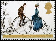 Bicycle postage stamp