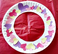 Heart Wreath Valentine's Day Craft