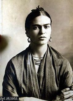 One of my favorite artists, Frida Kahlo- photograph by Tina Modotti Oct 16, 1932.