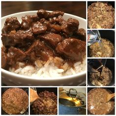 Sweet Little Bluebird: Best-Ever Beef Tips. Use GF Gravy Mix... McCormick makes one... Beef Round, Beef Tip Recipes, Stew Meat Recipes, Beef Stew Meat, Crockpot Recipes, Cooking Recipes, Beef Tips And Rice, Beef Tips And Gravy, Beef Dishes