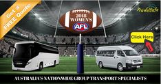 **2018 NAB WOMEN'S AFL / Friday 2nd February - Sunday 18th March**  Planning to watch any of these games? Do you require #GroupTransport?  Contact us today at #TravelSafeCoachHire for a FREE QUOTE! #AFL #Australia #Bus #Coach #Hire #Womens #Touchdown