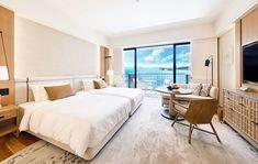 Halekulani Okinawa Deluxe Ocean View (Room reservation begins February Hotel Room Design, Hotel Interior, Guest Room, Bedroom Hotel, Hotel Interior Design, Home Decor, Room, Room Design, Luxury Resort Hotels