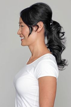 Yes you can wear a pony after 50 here is How to Get the Perfect Chic Ponytail in 4 Easy Steps
