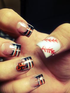 SF giants nails- nails by Dusty