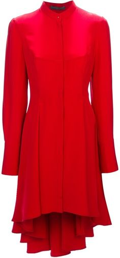 Alexander McQueen Pleated Blouse Dress - Lyst