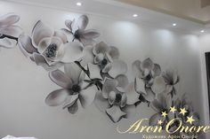 Готовый рисунок на стене в квартире в г. Москва  - Объемные цветы