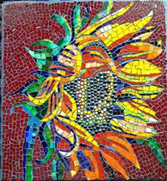 Mosaic Sunflower by glazimagerie on Etsy, $275.00