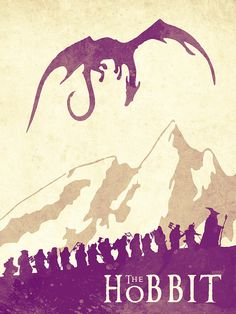 The Hobbit - Lord Of The Rings Poster. Watercolor Poster. Handmade Poster. Painting by Lyubomir Kanelov