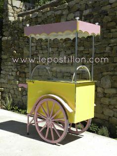 Ice cream cart, chariot à glaces, charrette à glaces, carretto gelati, carro del helado, catering