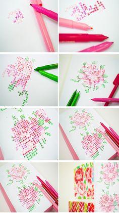 The Decorista Chronicles//DIY Cross-Stitch Wall Art (without the stitching!)
