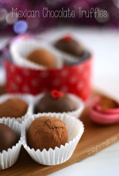 Mexican Chocolate Truffles | crazyforcrust.com