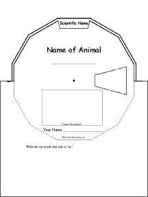 Animal Report Word Wheel