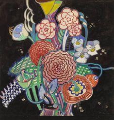 Charles Rennie Mackintosh  Textile Design: Basket of Flowers  1914-1923