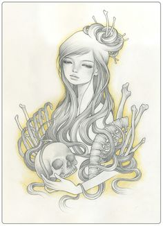 I fell in love with Audrey Kawasaki the instant I saw this print in Outre Gallery :)