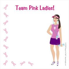 http://www.designhergals.com - Place Card Breast Cancer