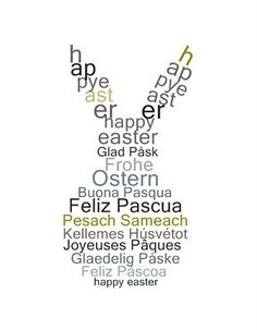happy easter - international easter Bunny ...felices pascuas