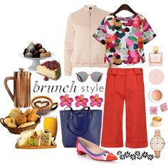 Sunday Brunch by carlagoiata on Polyvore featuring polyvore, fashion, style, Dorothy Perkins, self-portrait, Fendi, Rebecca Minkoff, FOSSIL, Kate Spade and J.Crew