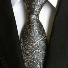 Cheap tie school, Buy Quality tie case directly from China tie a neck tie Suppliers: High Quality Paisley Gray Silk Mens Tie New Fashion Jacquard Woven Classic Ties For Men Gravata Corbatas Wedding Neckties Brown Tie, Paisley Tie, Paisley Print, Tie Pattern, Tie Styles, Wedding Ties, Formal Wedding, Gold Wedding, Elegant Wedding