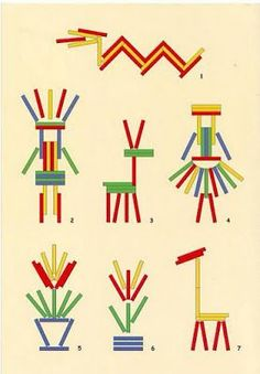 Игра Палочки - Inside my dreams — LiveJournal Montessori Activities, Motor Activities, Preschool Activities, Popsicle Stick Crafts, Craft Stick Crafts, Crafts For Kids, Popsicle Sticks, Finger Gym, Material Didático