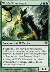 Magic the Gathering Creature - Wolf Warrior: Wolfir Silverheart