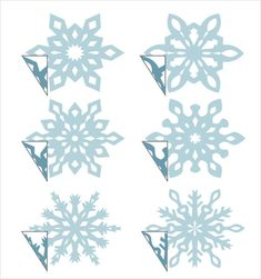 3d Snowflake Template