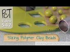 Making Polymer Clay Beads All The Same Size or Graduated - YouTube