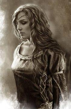 Magali Villeneuve Star Wars | Rhaena Targaryen, hija de Aenys I by Magali Villeneuve©