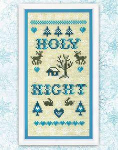 Cross Stitch Pattern PDF Holy Night Home Decor by TimeForStitch