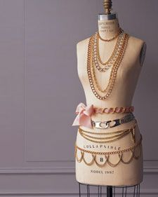 TO DO: Create Chain necklace & bracelets..need 2 jump rings, chain, spring clasp, toggle, snap needle-nose pliers...Great how-to from Martha Stewart