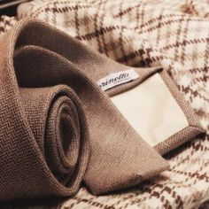 Get ready for winter with our cachemire herringbone tie