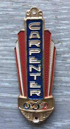 CARPENTER Metal Haed Badge