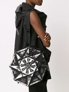 Issey Miyake origami effect shoulder bag