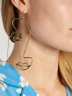 Half face-drop earring | Rosie Assoulin | MATCHESFASHION.COM
