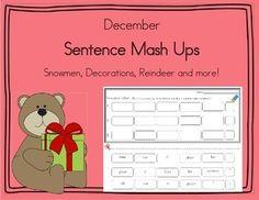 Daily 5 Word Work Sentence Mash Ups  December